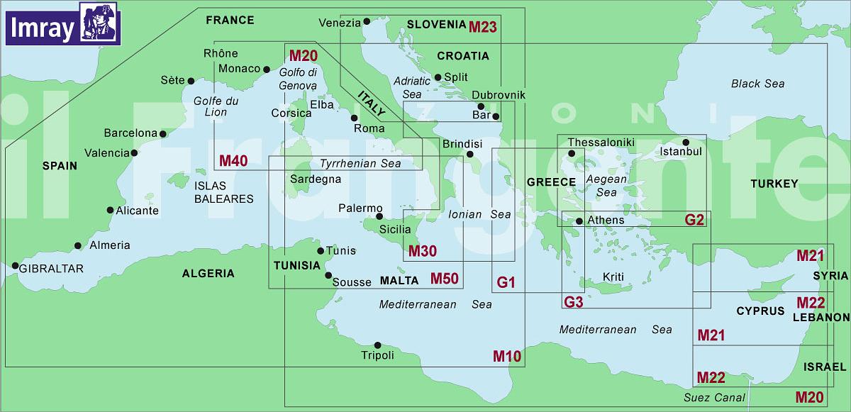 Carte Nautiche da Diporto Idrografico Inglese - IMRAY